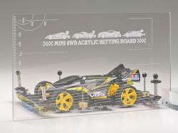 T95618 タミヤ ミニ四駆アクリルセッティングボード (スモーク)