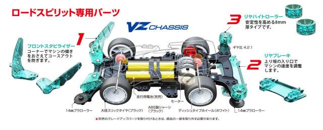 T19801 タミヤ ロードスピリット (VZシャーシ)